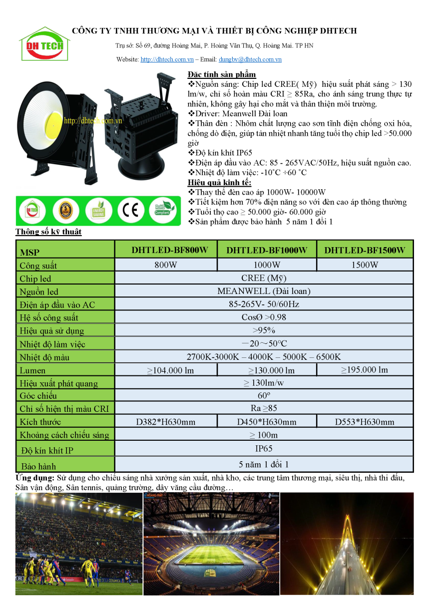 Đèn pha led spotlight 800W - 1500W